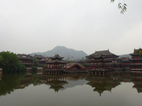The scenery on one of Hengdian's movie sets.