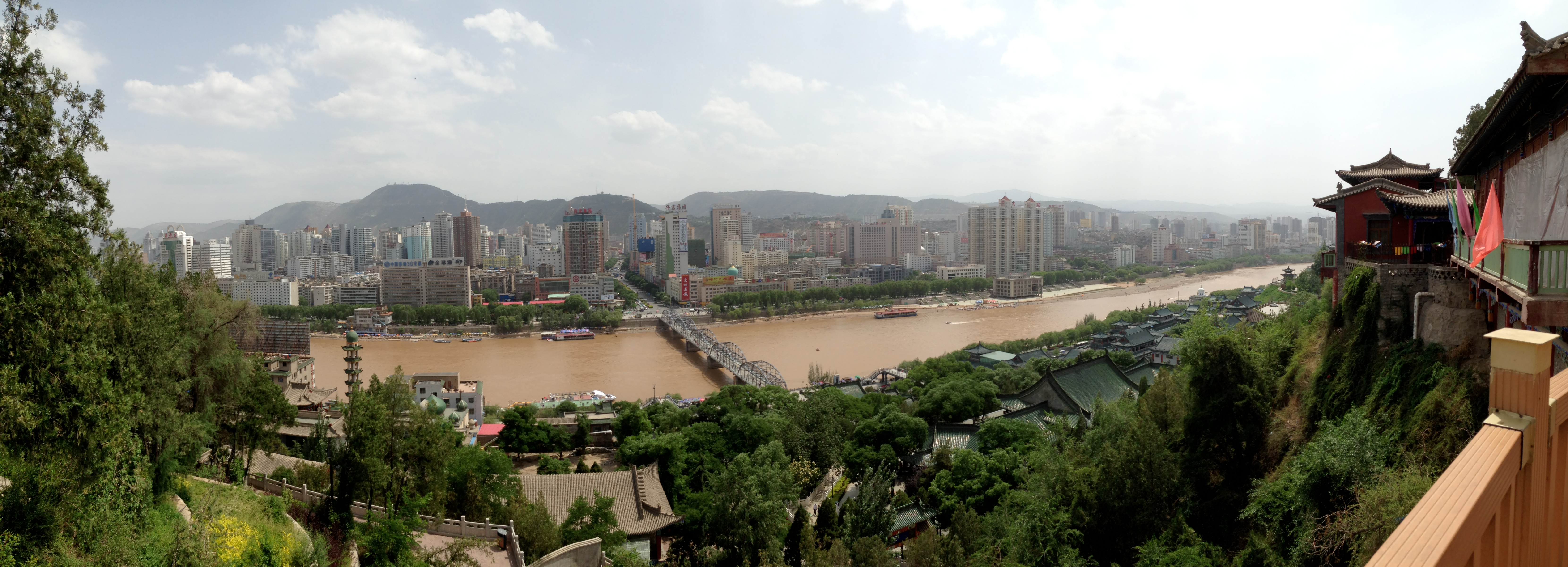 Panoramic View of Lanzhou from the White Hills Pagoda, June 8