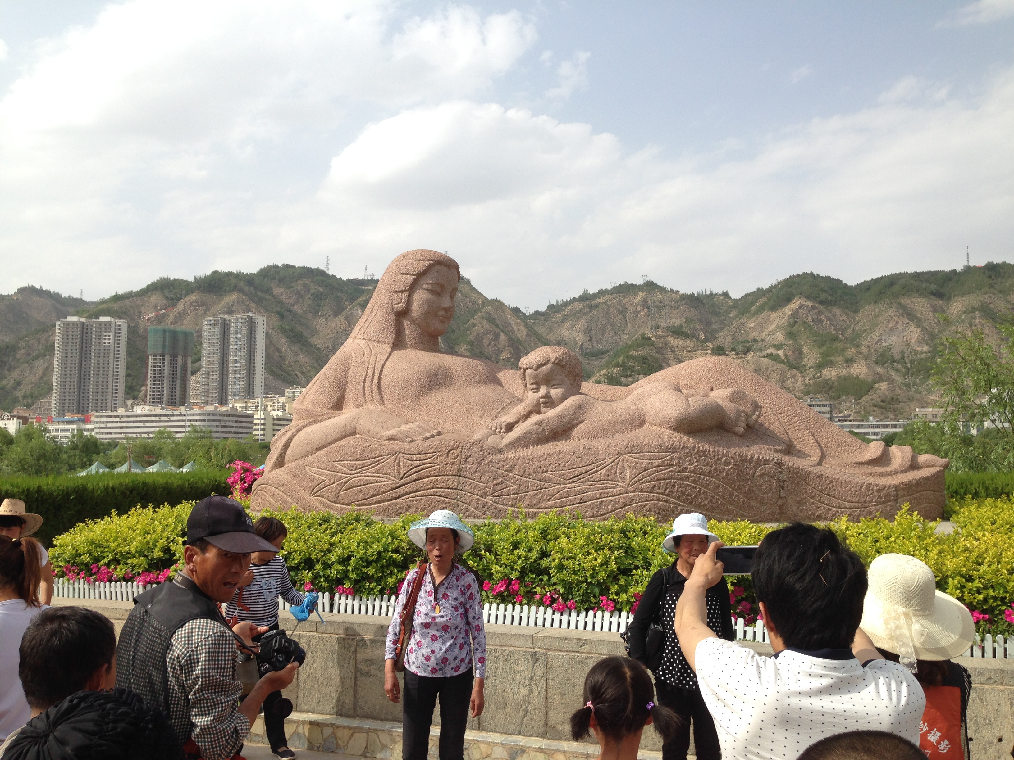 Mother River Statue in Lanzhou, June 8