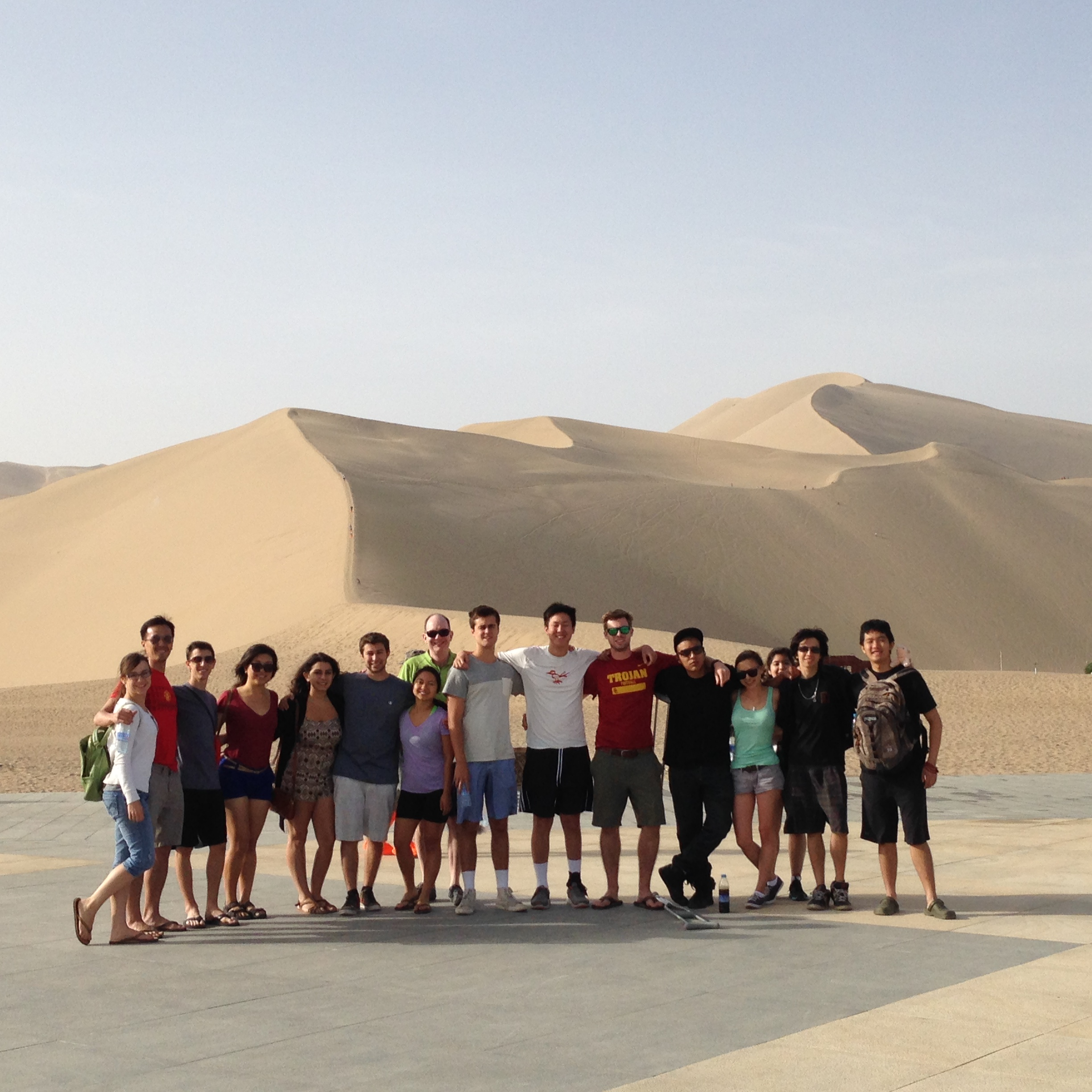 In front of the Dunes of Dunhuang, June 10