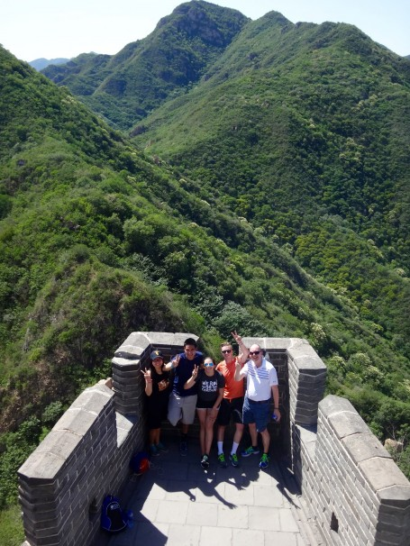 Depiction of the victory of 4 students who gained official Sheehans for making it to the highest point of the Great Wall (Juyuguan section) and of course, proud Papa Sheehan.