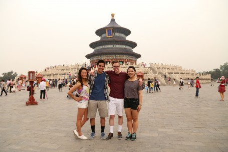 A group of the GEA China scholars in front of the Temple of Heaven.