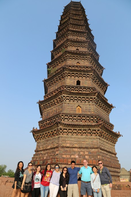 GEA China 2015 in front of the Iron Pagoda. Several us conquered the structure by climbing to the top
