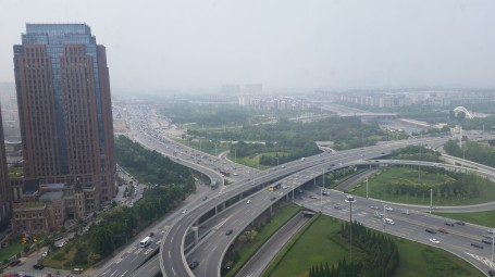 Zhengzhou from hotel conference room