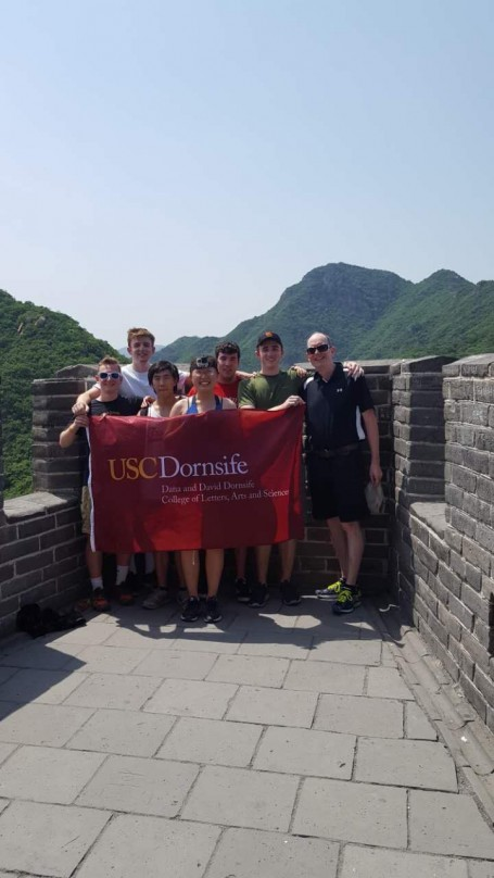 We've reached the TOP!! After almost an hour climbing, 6 group members have reached the top of Juyongguan (the most steep part of the great wall!)