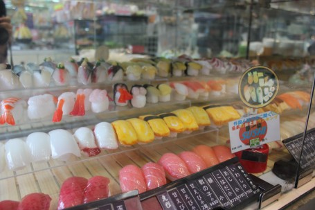 Wax Sushi. Doesn't taste as good as real sushi...