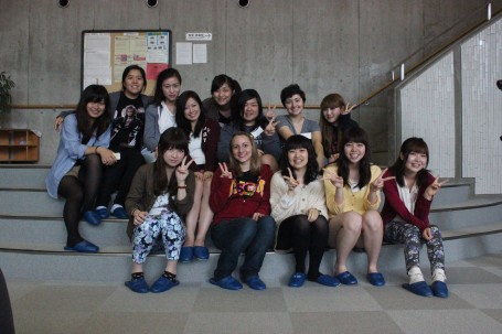Another group photo with the Meiji girls.