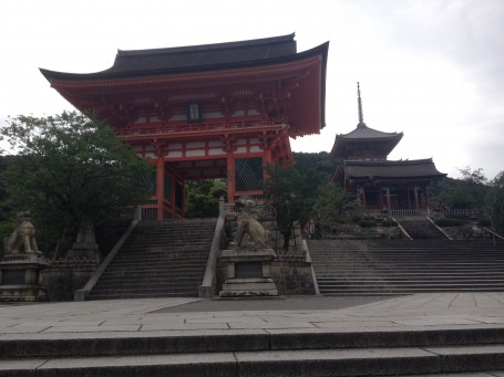 Kiyomizu Temple's beautiful architecture.