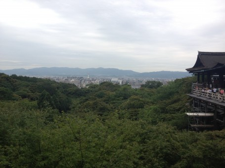 View of Kyoto from Kiyomizu Temple.
