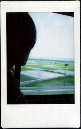 On the bus from Kyoto to Nara (polaroid)