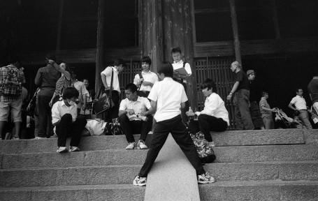 Schoolboys Resting, Nara.