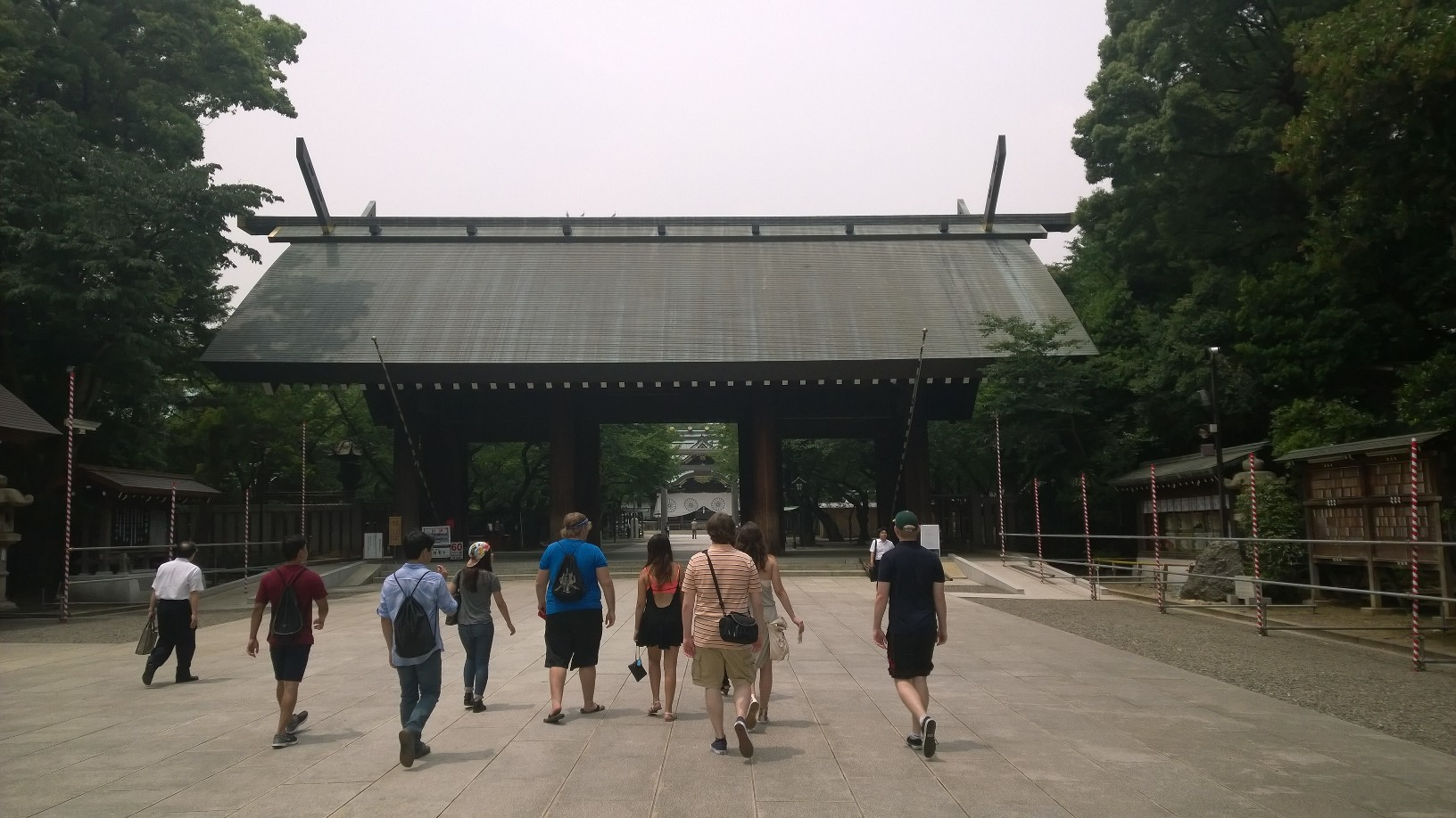 A group photo at Yasukuni Shrine
