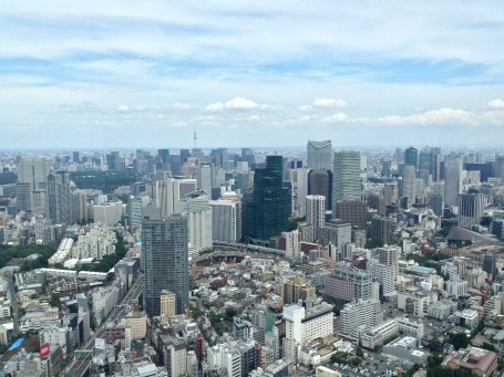 View from Mori Tower Observatory.
