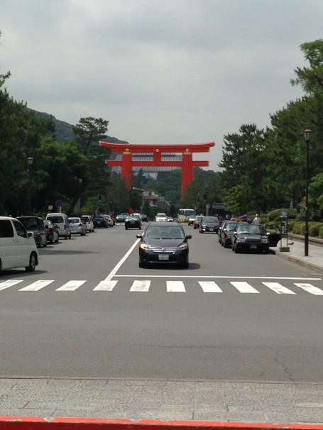 Heian-jingu Torii, one of the biggest torii gates in Japan!