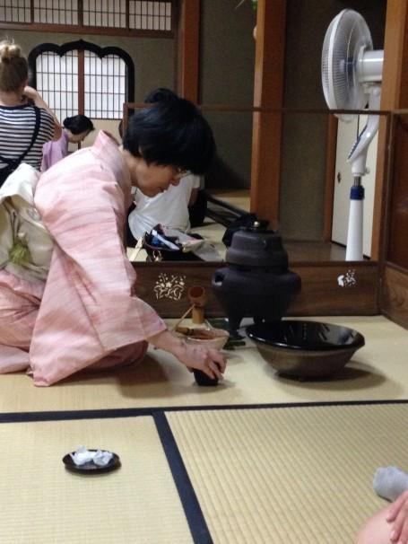 Tea Master hard at work