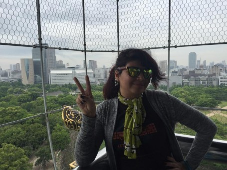 Photo op at the top of Osaka Castle