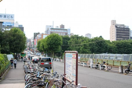A street in Yotsuya.