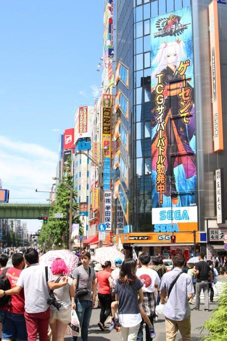 """Pedestrian Paradise"" in Akihabara."