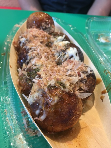 We decided to reward ourselves with takoyaki from across the hotel.