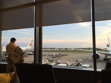 Goodbye Japan and Meiji. A view of the sunset from Narita Airport - waiting for our flight back to LA.