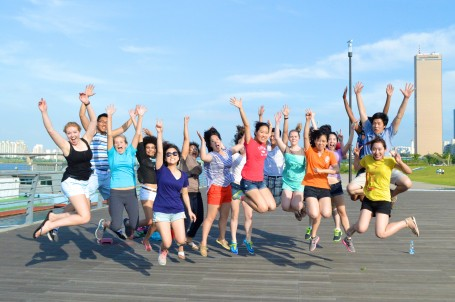 The obligatory jumping photo at the Han River Park
