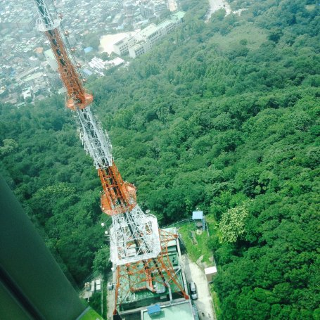 This is a view from the top of N Seoul Tower. Fantastic! Are you afraid of the height? =P