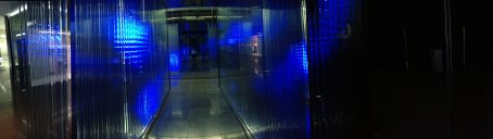 A panoramic view of the second floor of Samsung D'light.