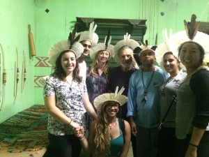 Classmates with the Fulnio healer, author, Lorelei, kneeling center