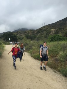 Hiking with packs 2
