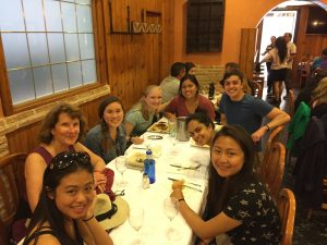 First Supper in Madrid with Spain PWP 2016