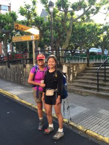 Angela and Yushi (the author) beginning a day's hike