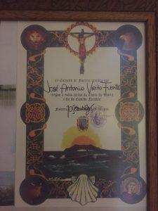 Fisterra certificate