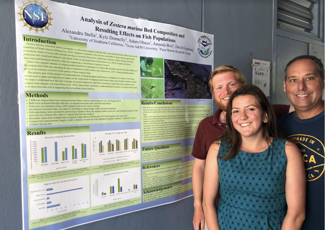 Presenting my eelgrass research project at the end of the summer!